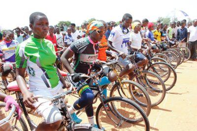 Girls participating in Road Bike Race in Gihanga - Fort Barachel Burundi