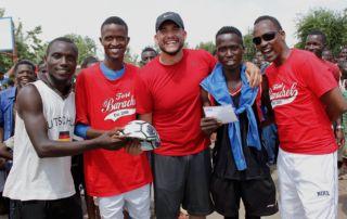 Prizes for the boys - Gihanga Sports Event by Fort Barachel Burundi