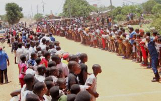 Road Bike Race Finish line - Gihanga Sports Event by Fort Barachel Burundi