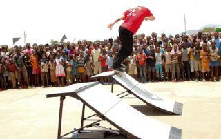 Skateboard performance - Fort Barachel Burundi